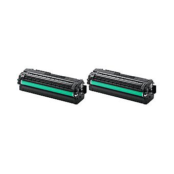 RudyTwos 2x Replacement for Samsung CLT-K506L Toner Unit Black Compatible with CLP-680DW CLP-680ND CLX-6260FR CLX-6260FW CLX-6260ND