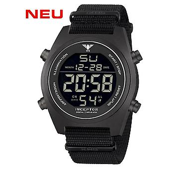 KHS - Men's Watch - Inceptor Black Steel Digital Natoband- KHS. INCBSD.NB