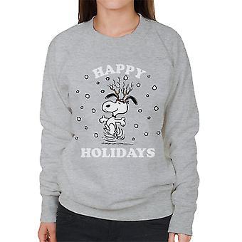 Orzeszki ziemne Boże Narodzenie Wesołych Świąt Snoopy Damska Bluza