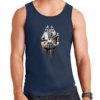 Star Wars Spray Paint Millenium Falcon Men's Vest
