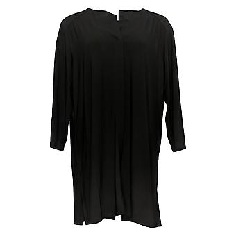 Attitudes van Renee Women's Top Como Jersey Collarless Black A301309