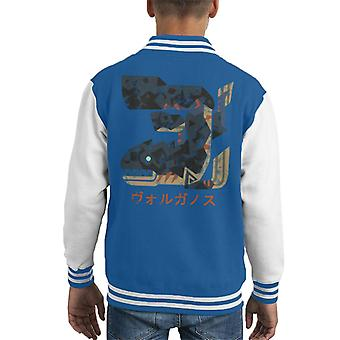 Lavasioth kanji Monster Hunter World Kid ' s Varsity jacka