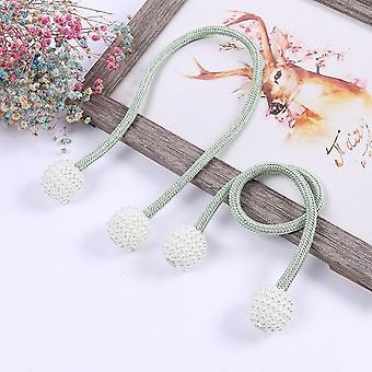 Pearlescent Magnetic Curtain Clip Thick Rope Buckle Strap