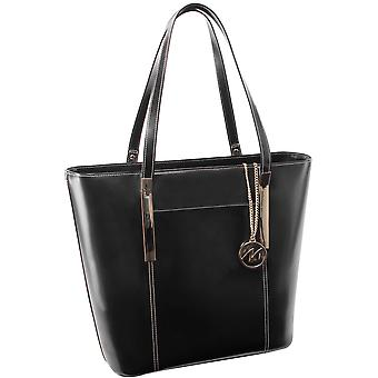 97735, Leather Ladies' Tote With Tablet Pocket