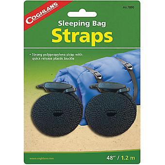 """Coghlan's sovsäcksband (2 pack), 48"""" Längd med snabbkopplingsspänne"""