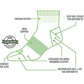 TCS Men's Extended Size Quarter Performance Athletic Socks, Black, Size 12.0