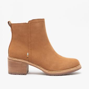 TOMS Marina Ladies Leather Ankle Boots Tan