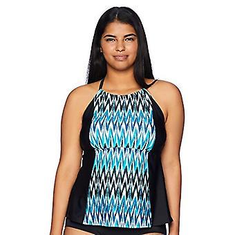 Brand - Coastal Blue Women's Badkläder Highneck Halter Tankini Topp med...