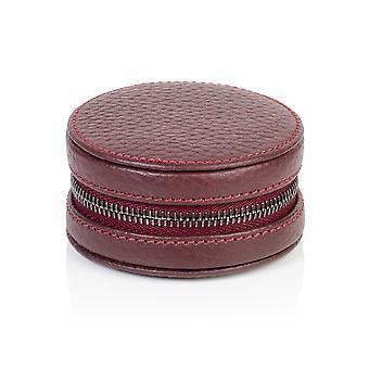 Richmond Leather Cufflink / Ring Box in Burgundy