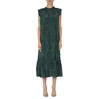 Zimmermann 7637drladgranl Women's Green Silk Dress