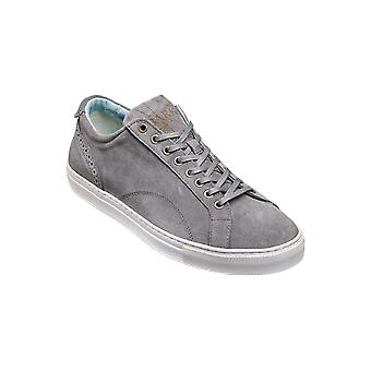 Barker Axel - Grey Suede - 6 | Mens Handmade Leather Sneakers | Barker Shoes