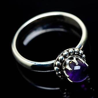 Amethyst Ring Size 6.25 (925 Sterling Silver)  - Handmade Boho Vintage Jewelry RING24993