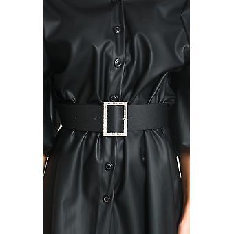 IKRUSH Womens Nicola Diamante Detail Buckle Belt