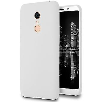 Ultra Thin Shell for Xiaomi Redmi 5 Plus TPU Solid Color Lightweight Ultra-Slim White