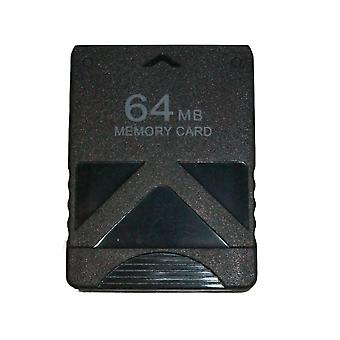 64mb memory card for sony ps2 & ps2 slim consoles [playstation 2] - black