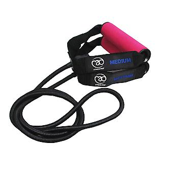 Fitness Mad Safety Medium Resistance Strength Tube and Guide Pink