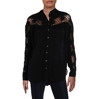 Free People | Katie Bird Lace-Inset Shirt