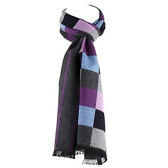 Ties Planet Tresanti Shades Of Grey, Purple, Blue & Grey & Purple Striped Double Face Scarf