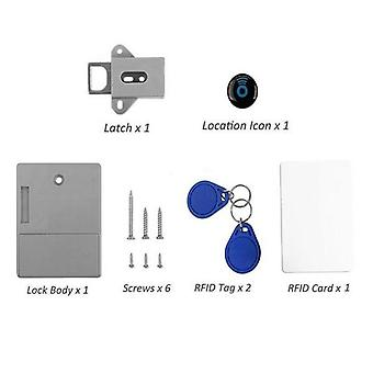 Invisible Hidden Rfid Free Opening Intelligent Sensor Cabinet Lock Locker Wardrobe Shoe Cabinet Drawer Door Lock