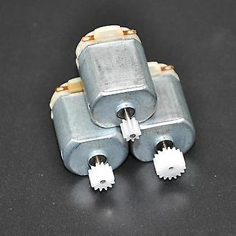 Small Dc Motor Miniature Four-wheel Small+(gear Package)