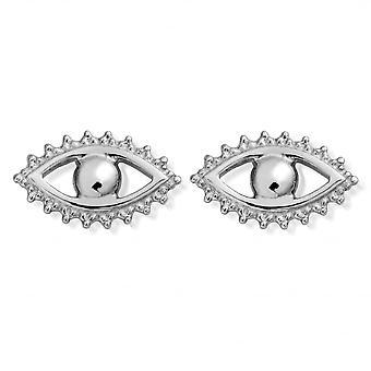 ChloBo Silver Evil Eye Stud Earrings