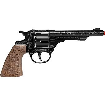 CAP GUN  - 80/6 - Gonher Cowboy Revolver 8 Shots BK