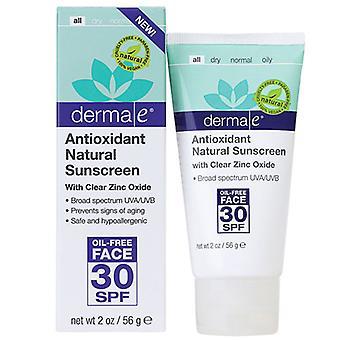 Derma e Antioxydant Crème solaire naturelle avec zinc clair, 4 oz