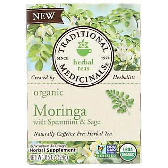Traditional Medicinals Teas Organic Tea Moringa with Spearmint and Sage, 16 Bags