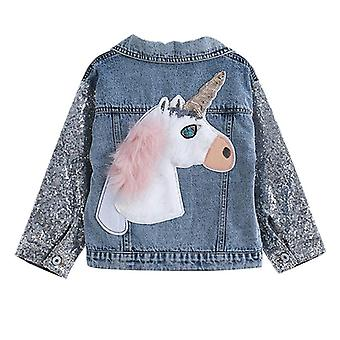 Denim Coats Spring Jackets Clothes Cartoon Printed For Kids
