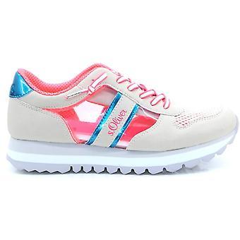 Aus weiß rosa flache Schuhe