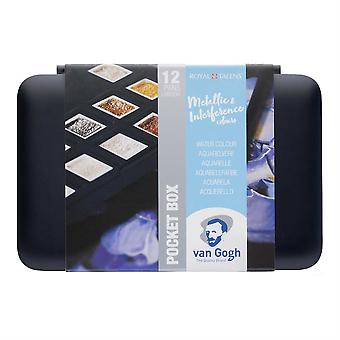 Van Gogh Watercolour Pocket Box Paint Set of Speciality Metallic & Interference Colours