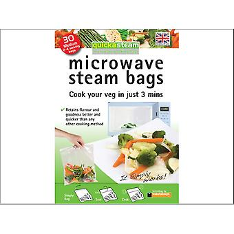 Toastbags Quickasteam Microwave Steam Bags Large x 30 QSM30PP