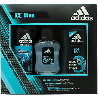 Adidas Eis Tauchen Geschenk Set 50ml EDT + 250ml Duschgel