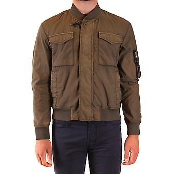 Fay Ezbc035074 Men's Green Nylon Outerwear Jacket