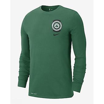 Nike Nba Boston Celtics Crest Logo Groene Dri-fit T-shirt