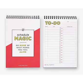 جدولة سحر يوميا للقيام قائمة دفتر الملاحظات