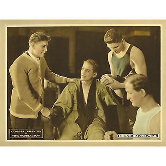 Das Wunder Mensch Center Georges Carpentier auf Lobbycard 1920 Film Poster Masterprint