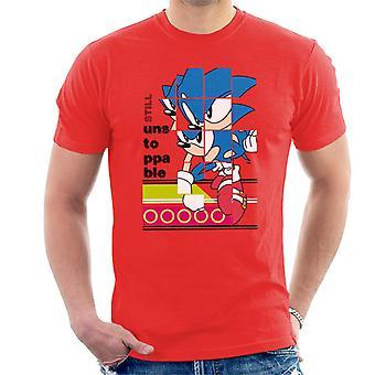 Sonic The Hedgehog Landing Still Unstoppable Men's T-Shirt