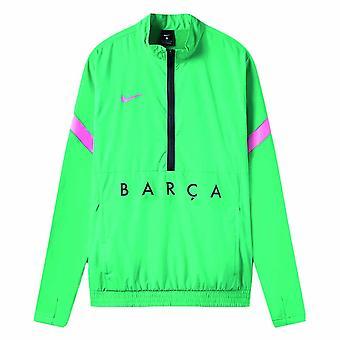 2020-2021 Barcelona kudottu track takki (vihreä)
