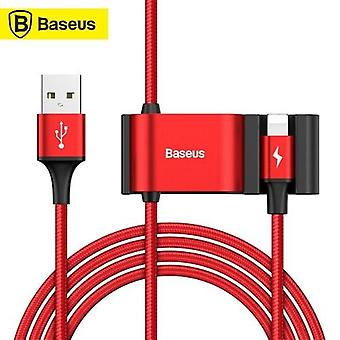 Baseus Data Cable Dual USB 5V/3A 1.5m Lightning Charging Cable Car Backseat For Smartphone CALHZ-09