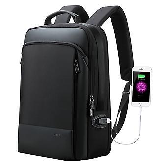 Bopai 61-07311 Suuri kapasiteetti Varkaudenesto Vedenpitävä Reppu Kannettava tabletti laukku 15,6 tuumaa ja alle, ulkoinen USB-latausportti (musta)