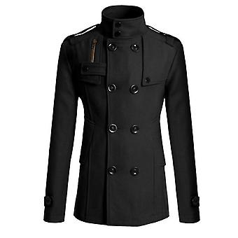 Men's Mao Wool Overcoat Long Suit Woolen Windbreaker Mens Coat