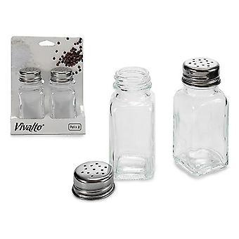 Conjunto de sal y pimienta Cristal (2 piezas)