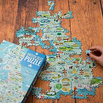 British Puzzle - Map Lovers Gift - 1000 piece - Game Christmas Gift