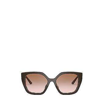 Prada PR 24XS marrom / óculos de sol rosa manchado