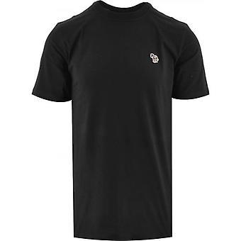 Paul Smith Black Regular Short Sleeve Zebra T Shirt
