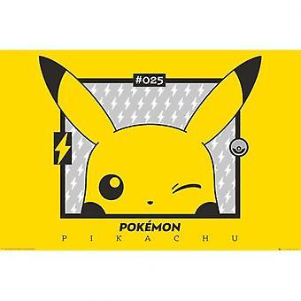 Pokemon Póster Pikachu Wink 143