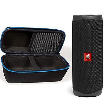 JBL Flip 5 Waterproof Portable Wireless Bluetooth Speaker Bundle with divvi! Protective Hardshell Case - Black