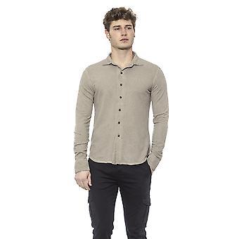 Beige Alpha Studio Men's Shirt