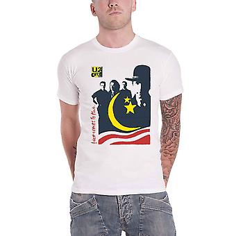 U2 T Shirt Love Comes To Town Band Logo new Official Mens White
